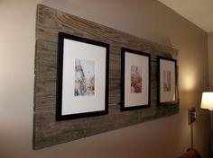 frames mounted on old pallet boards