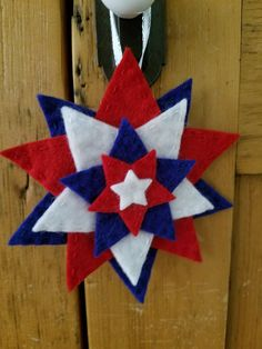Red, White, Blue Star Ornaments, Memorial Day Ornaments, of July Ornaments by ThreadsandKrates on Etsy Memorial Day Decorations, 4th Of July Decorations, Felt Decorations, Star Ornament, Felt Ornaments, Easy Diy Crafts, Diy Crafts For Kids, Fourth Of July, 4th Of July Wreath