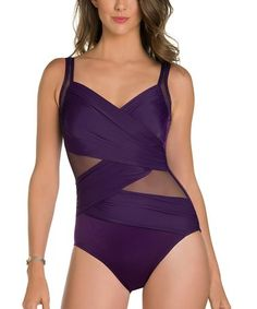 0efb1a9c87 Miraclesuit New Sensations Solid Madero Underwire One Piece Swimsuit