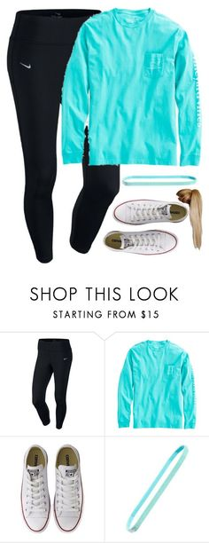 """""""Casual"""" by meljordrum ❤ liked on Polyvore featuring NIKE, Vineyard Vines, Converse and Sparkly Soul"""