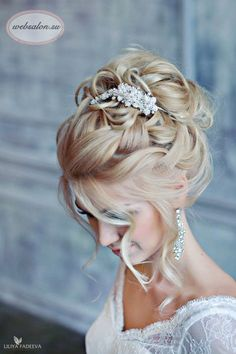 21 stunning wedding hairstyles websalon  If I decided to actually do an updo instead of styling it down, this would be it!
