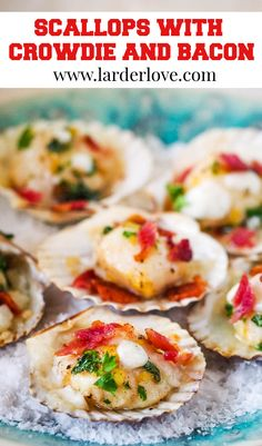 These scallops with crowdie and bacon are super easy to make and are the perfect appetizer or party nibble with a wee taste of Scottish style. #scallops #partyfood #seafood #appetizers #larderlove Scottish Dishes, Scottish Recipes, Traditional Scottish Food, Venison Burgers, Nibbles For Party, Seafood Appetizers, Party Dishes, Scallop Recipes, Jam And Jelly