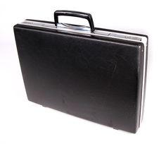Vintage 60s Modern SAMSONITE Slim Black & Chrome Briefcase Attache Key Clean VGC #Samsonite #BriefcaseAttache