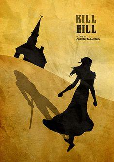 Quentin Tarantino Minimalist Movie Poster Kill Bill by moonposter