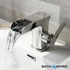 Bermen Waterfall Single Lever Basin Mixer Tap   Bath Tap - BathEmpire