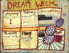 dream week journal idea