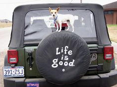 Life is good! #jeep #littlewithabigheart #dog #doglovers