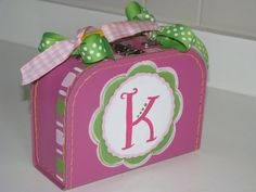 Girls SMALL Mini Suitcase Pink Flower by SwankyBabyBoutique, $24.50