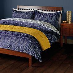 Buy John Lewis Fusion Tangiers Duvet Cover and Pillowcase Set, Indigo Online at johnlewis.com