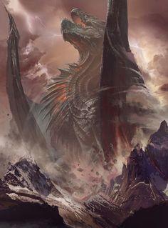 fantasyartwatch: Dragon Rising by Bayard Wu