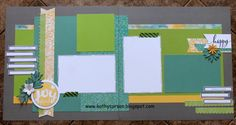Two page layouts featuring Brushed WOTG Kit and Accessories.  LOVE the colors-Juniper, Pear & Canary.
