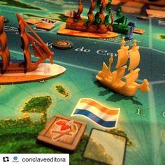 Merchants and Marauders estou com vontade de jogar e você? #DeliDaPersy #boardgame #merchantsemarauders  #conclaveeditora