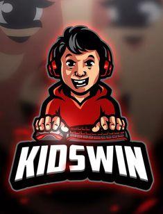 Kidswin - Mascot & Esport Logo by aqrstudio on Envato Elements Logo Desing, Team Logo Design, Mascot Design, Logo Esport, Empire Logo, Mobile Logo, Esports Logo, Professional Logo Design, How To Make Logo