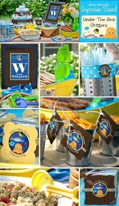 Ocean Baby Shower Ideas - what a cute baby shower theme!!