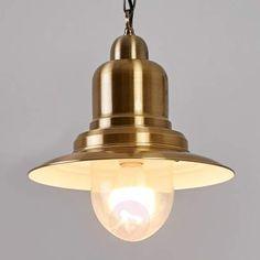Jeronimo - lampada marinara ottone antico LED E27