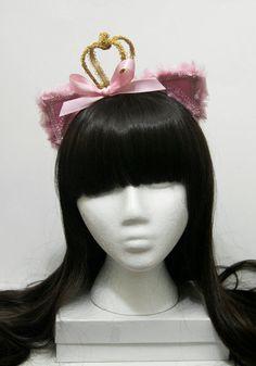 Pink Hime Princess Kitty Gothic and Lolita Cat by SheenasBellaBows, $35.00