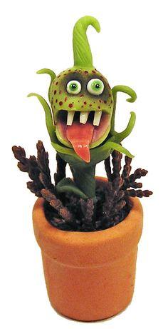 Dollhouse Miniature Kooky Plant - Handmade 1:12 scale