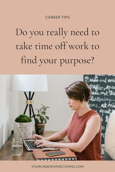 If you have been wanting to change careers but you're not sure if you need to take time off work in order to discover the right career for you, then this post is for you. This post will help you decide if you should take time off from work! life coaching tools | growth mindset | mindset coaching Find A Career, Career Change, New Career, Find A Job, Social Media Strategist, Life Coaching Tools, Finding Purpose, Career Planning, Quitting Your Job