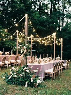 Like something from a dream, this gorgeous early fall wedding in Virginia has swept in and captured our hearts with delicate mauve and cream roses sprinkled throughout The Ivy Rose Barn. We love an al fresco setup with romantic festoon lighting and are ob