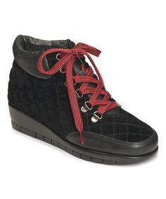 Another great find on #zulily! Black First Plan Leather Bootie #zulilyfinds