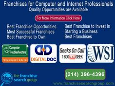 Franchises for Computer and Internet Professionals : Business Services