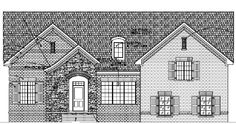 Castle Floor Plan- The Castle has 2500 sq. feet of space, 3 bedrooms, 2 bathrooms, and a 2 car garage! - Landmark Homes of TN | www.yourlandmark.com