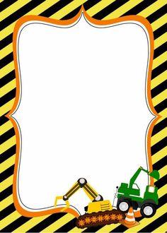 Construction Birthday Party Invitation Templates - cars and others - Construction Birthday Invitations, Construction Birthday Parties, Birthday Invitation Templates, 3rd Birthday Parties, Birthday Party Invitations, 2nd Birthday, Birthday Ideas, Tractor Birthday, Clipart
