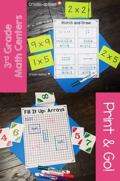 Grade Place Value Math Centers Activity Centers, Math Centers, Math Division, 3rd Grade Classroom, Place Values, Rounding, Student Teaching, Elementary Math, Multiplication