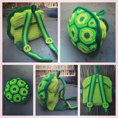 Crochet Turtle Backpack /// Häkel Schildkröten Rucksack