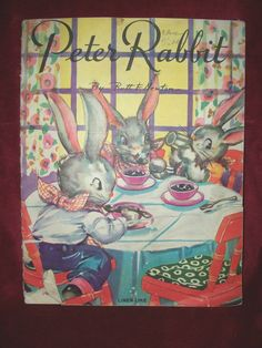 PETER RABBIT by Ruth E Newton 1938 Linen - Like  Illustrated Children's Book