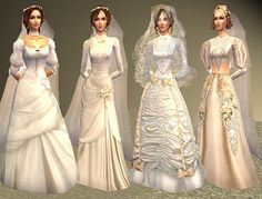Spring4Sims » Victorian Wedding Gowns, Veils & Accessories by All About Style