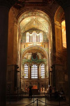 Basilica di San Vitale, Ravenna, Italy - I waited for years to view the #colorful mosaics in the Basilica of San Vitale on Ravenna, Italy.