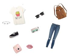 """French-fri🍟"" by annaleamassey on Polyvore featuring Frame Denim, Vans, BAGGU, Fujifilm, Casetify, Bling Jewelry and Lime Crime"