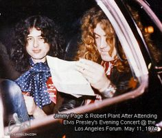 (JP & RP after attending Elvis Presley's  evening concert @ the LA Forum, May 11, 1974)  - from photo
