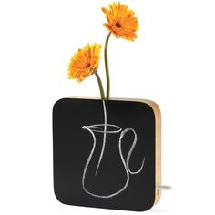 Chalkboard Vase by Museum of Modern Art (MoMA). Charming and functional, this bud vase features a chalkboard front that can be used for drawings and messages.