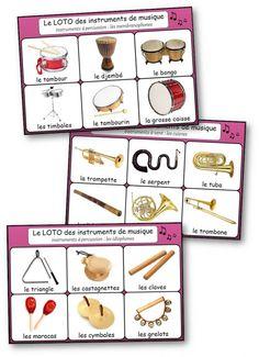 Loto des instruments de musique