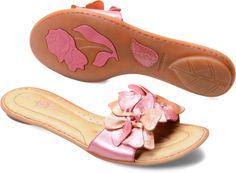 Born Womens Gloria in Pink Peach Metallic: 135.00