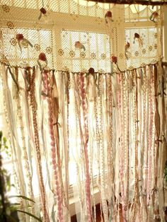 7 Ft Long Shabby Chic Curtain Rag Garland by BetterhomeLiving Shabby Chic Garland, Shabby Chic Theme, Shabby Chic Curtains, Romantic Shabby Chic, Burlap Curtains, Shabby Chic Bedrooms, Shabby Chic Style, Bohemian Curtains, French Curtains