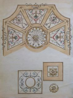 Sketch. Design for a ceiling
