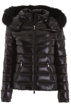 Puffer Jackets Moncler Basic for Women Nero Puffer Jackets, Winter Jackets, Moncler Jacket Women, Fur Jacket, Fur Trim, Board, Sleeves, How To Wear, Shopping