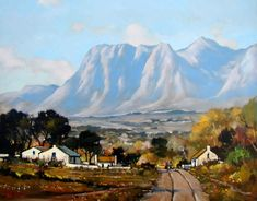 Artwork of Dale Elliot exhibited at Robertson Art Gallery. Original art of more than 60 top South African Artists - Since Landscape Artwork, Watercolor Landscape, Bright Colors Art, African Paintings, South African Artists, Africa Art, Art For Art Sake, Pictures To Paint, Artist Painting
