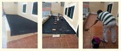 Impermeabilización de una terraza comunitaria en un edificio de palma de mallorca