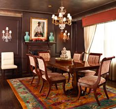 i like the cornice with the fringe    Chicago Apartment with Delightful Colorl - Traditional Home®