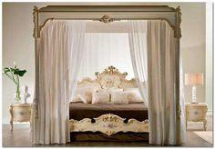 Camera da letto in stile veneziano - Letto a baldacchino