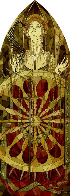 Kate Baylay - Saint Catherine of Alexandria - Saints series