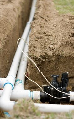 How to Install an Underground Sprinkler System - Line Trench