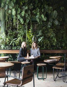 New vintage interior cafe plants 34 ideas Decoration Restaurant, Restaurant Interior Design, Cafe Restaurant, Cafe Bar, Vintage Restaurant, Vintage Cafe, Restaurant Chairs, Vintage Decor, Cafe Plants