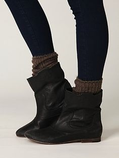 leggings, chunky socks and booties. Great combination