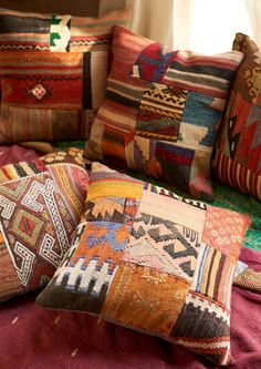 Turkish kilim fabric pillows. #discoverturkey #pillows #earthboundtrading