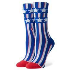 Stance Women/'s Jackie Crew Socks in Blue